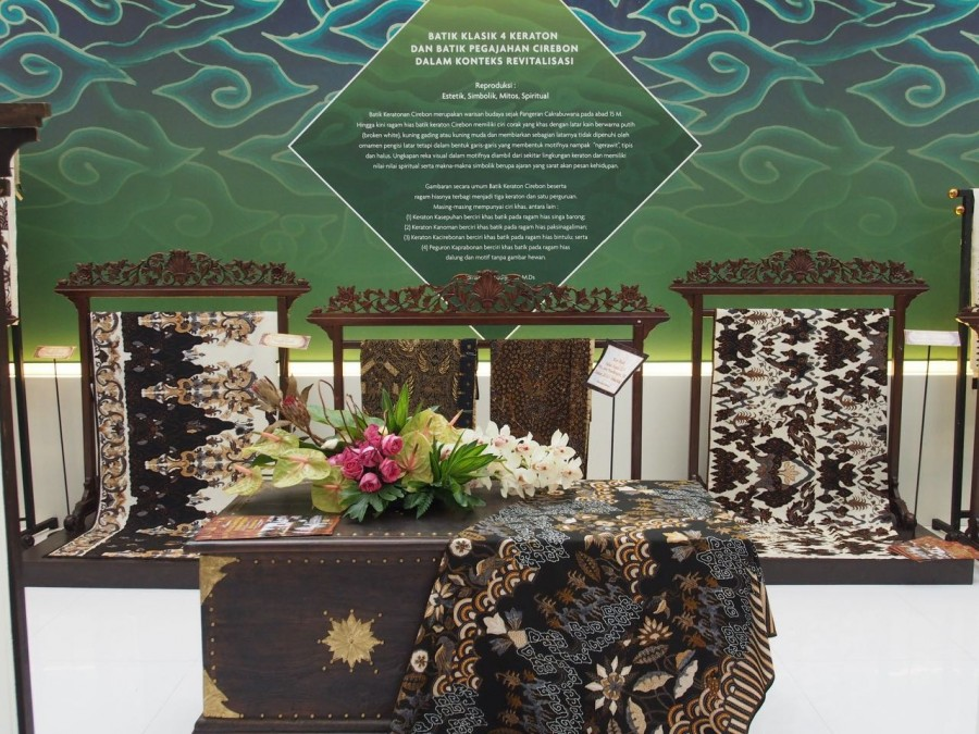 An amazing exhibit of extraordinary batik based on the traditions of the Keraton of Cirebon